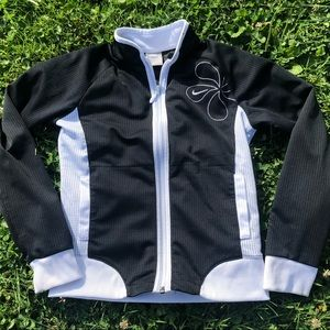 Early 2000s Nike Woman's Zip Up Sweater
